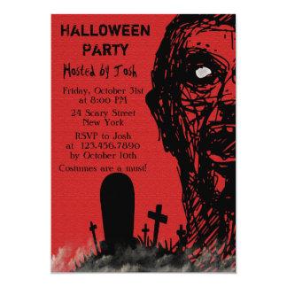 Beängstigende Zombie-Halloween-Einladung Karte