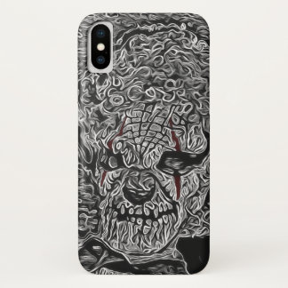 Beängstigender Clown Schwarzweiss iPhone X Hülle