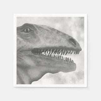 Beängstigender Dinosaurier Papierservietten