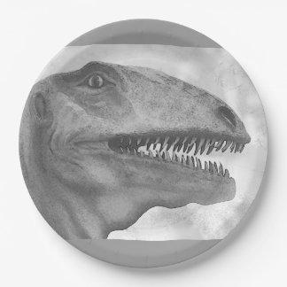 Beängstigender Dinosaurier Pappteller