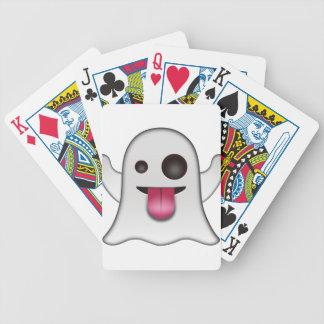 Beängstigender Geist Emoji cooler Spaß Bicycle Spielkarten
