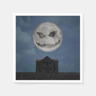 Beängstigender Halloween-Mond - Papierserviette