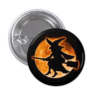 Beängstigender Hexe-Knopf Runder Button 3,2 Cm
