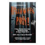 Beängstigender Holz-Halloween-Party-Flyer