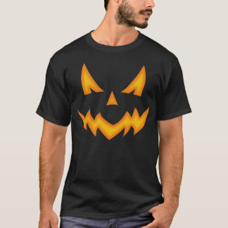 Beängstigender Kürbis-Gesichts-T - Shirt