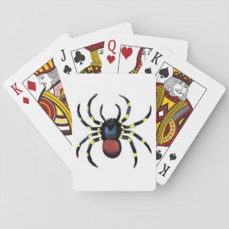 Beängstigender rote Spinne Spielkarte-Standard Spielkarten
