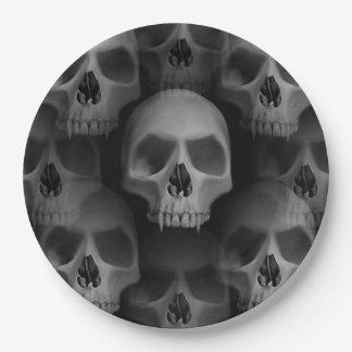 Beängstigender Schädel des Halloween-Party | Pappteller