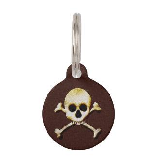 Beängstigender Schädel und Knochen-Gift Halloween Haustiermarke