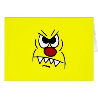 Beängstigender Smiley Grumpey Grußkarte