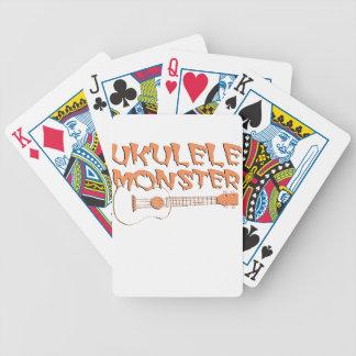 beängstigender Ukulele Bicycle Spielkarten