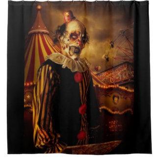 Beängstigender Zirkus-Clown Duschvorhang