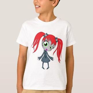 Beängstigendes kleines Creepy Mädchen T-Shirt