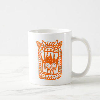 Beängstigendes Monster - Orange Kaffeetasse