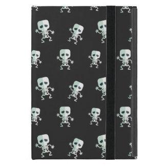 Beängstigendes schwarzes Skeleton Muster iPad Mini Etui