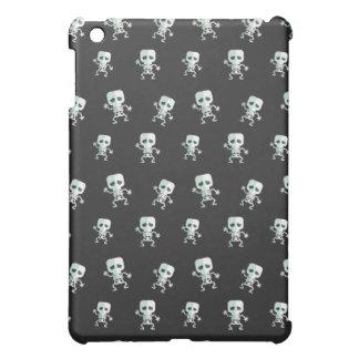 Beängstigendes schwarzes Skeleton Muster iPad Mini Hülle