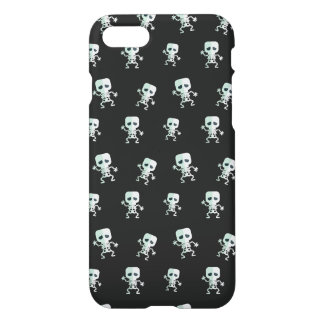 Beängstigendes schwarzes Skeleton Muster iPhone 8/7 Hülle