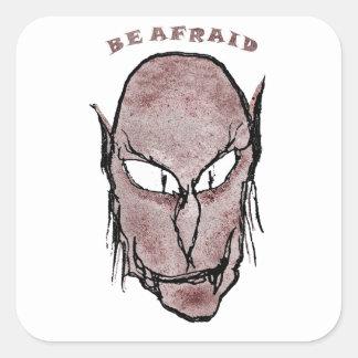Beängstigendes Vampire-Zeichnen Quadratischer Aufkleber