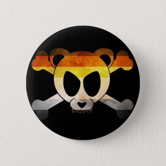 Bear Flag Skull (Gay Badge) Runder Button 5,1 Cm
