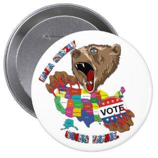 Bear-Graphic-3 Runder Button 10,2 Cm