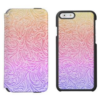 Bearbeitete lederne Kawaii Western-Hütte Incipio Watson™ iPhone 6 Geldbörsen Hülle
