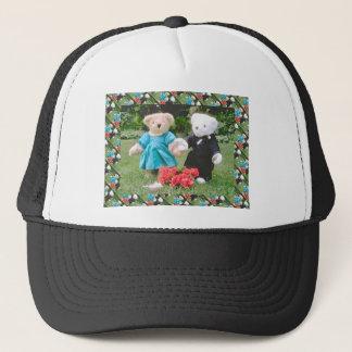 Bearly aktiv, gekleidete Teddybären Truckerkappe