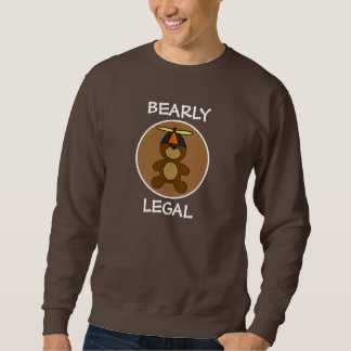 Bearly legaler Teddybär-Brown-Kreis Sweatshirt