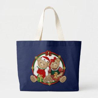 Beary frohe Weihnacht-Kreis Jumbo Stoffbeutel