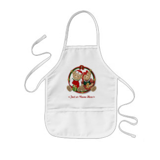 Beary frohe Weihnacht-Kreis Kinderschürze