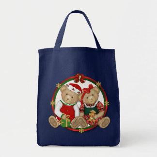 Beary frohe Weihnacht-Kreis Tragetasche