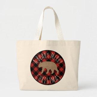 Beary frohe Weihnacht-Tasche Jumbo Stoffbeutel