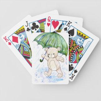 Beary nasser Teddybär Bicycle Spielkarten