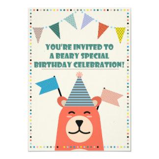 Beary spezielle Geburtstags-Jungen-Einladung 12,7 X 17,8 Cm Einladungskarte