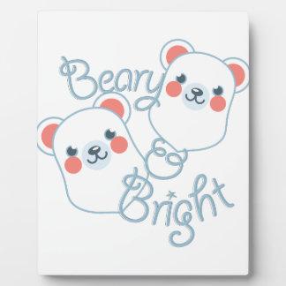 Beary u. helles fotoplatte