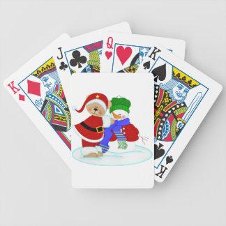 Beary und Snowy Bicycle Spielkarten