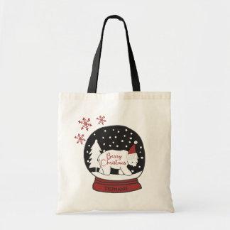 Beary WeihnachtsWeihnachtsmannmütze-polarer Bär Tragetasche