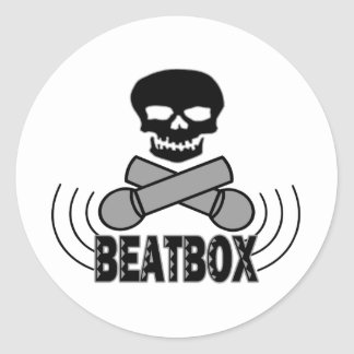 Beatbox Runder Aufkleber