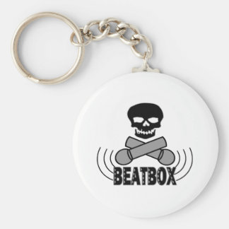 Beatbox Schädel u. Crossbone Mics Schlüsselanhänger