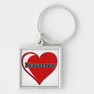 Beauceron auf Herzen für Hundeliebhaber Schlüsselanhänger