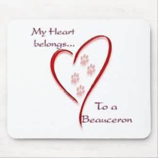 Beauceron Herz gehört Mousepad