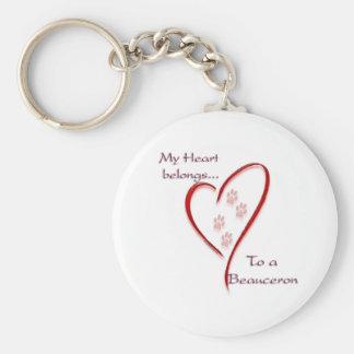 Beauceron Herz gehört Schlüsselanhänger