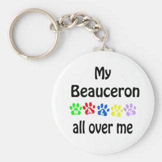 Beauceron Weg-Entwurf Schlüsselanhänger