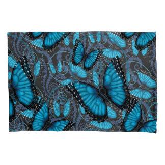 Beaucoup blaue Morpho Schmetterlinge Kissenbezug