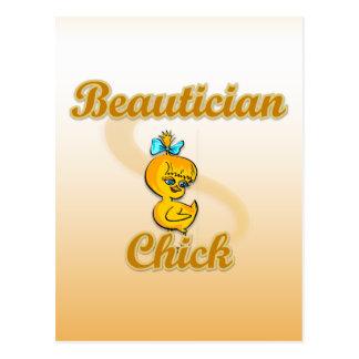 Beautician-Küken Postkarte