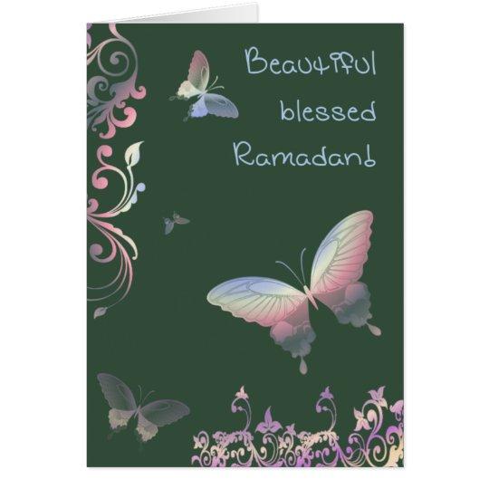 Beautiful blessed Ramadan - Greetings Karte