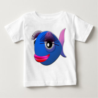 Beautiful bleu fish red lips baby t-shirt