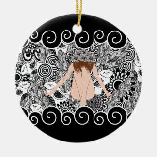 beautiful lady 1 keramik ornament