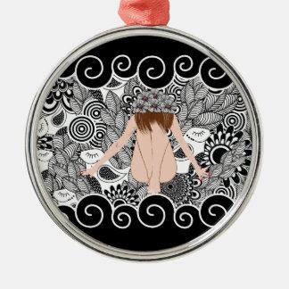 beautiful lady 1 silbernes ornament