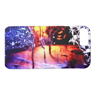 ⛄ ❄Beautiful Snowy Nightscape fabelhaft iPhone 8/7 Hülle