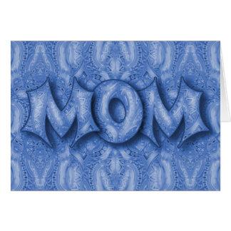 Bebopo Blau MAMMA Karte