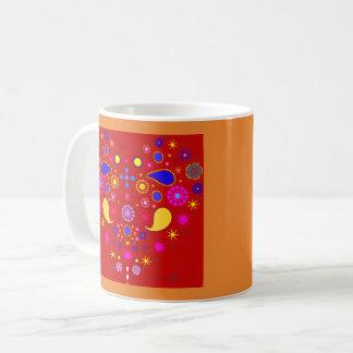 Becher AHORN RED Ethnisches Herz  Kaffeetasse